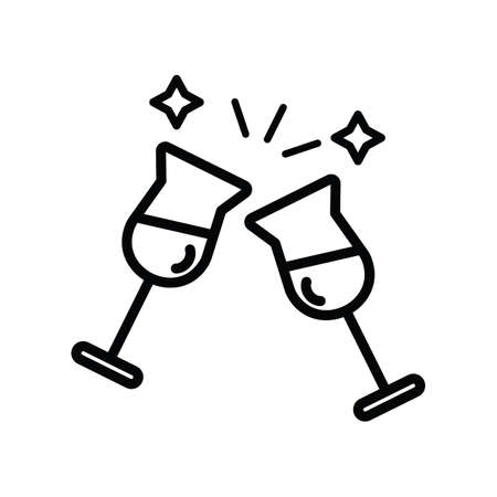 wine glasses Stock Illustratie