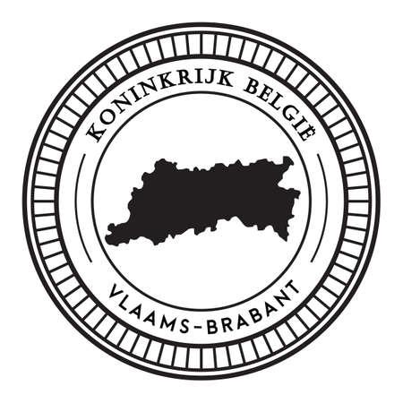 Vlaams-brabant지도 스티커