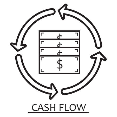 cashflow-concept Stock Illustratie