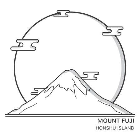mount fuji Ilustração