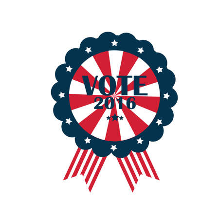 us vote rosette Çizim