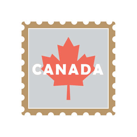 canada postal stamp Stock Illustratie