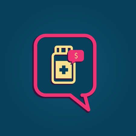 Bulle avec la médecine Banque d'images - 81484010