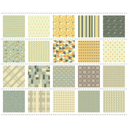 set of patterns background Illustration