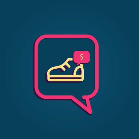 Bulle avec chaussure Banque d'images - 81484012