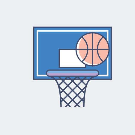 バスケット ボールのイラストです。