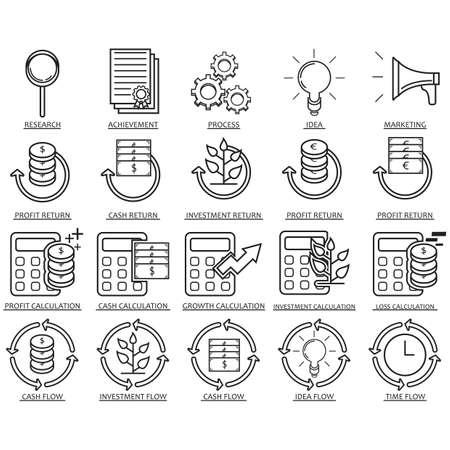 verzameling van zakelijke iconen Stock Illustratie