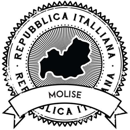 molise map label Illustration