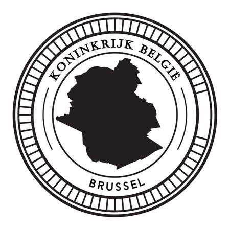 Adesivo della mappa di Brussel Archivio Fotografico - 81534749