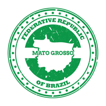 mato grosso map stamp