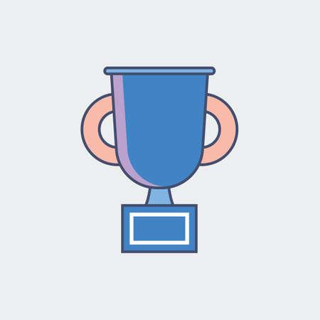 A trophy cup illustration. Illustration
