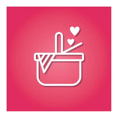 basket with hearts Zdjęcie Seryjne - 81484017