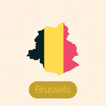 ブリュッセル地図  イラスト・ベクター素材