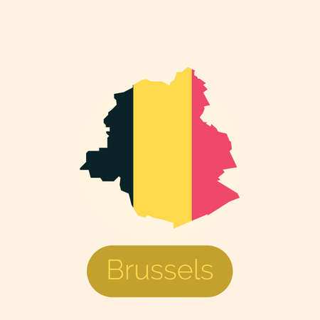 브뤼셀지도 일러스트