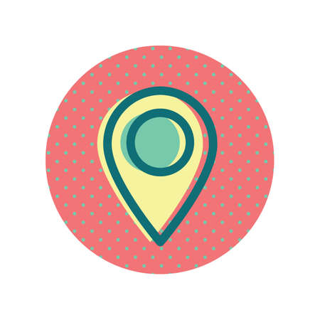 A map pointer icon illustration.
