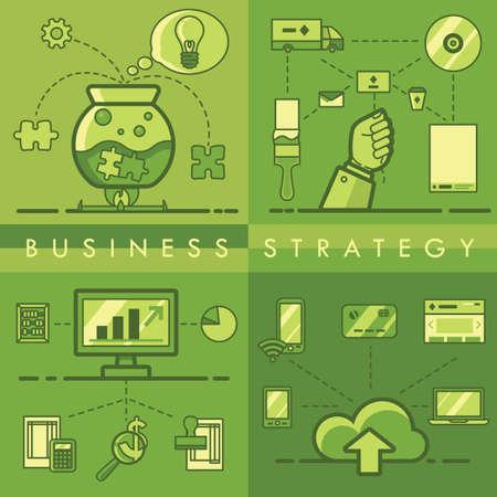 Inzameling van bedrijfsstrategie concept