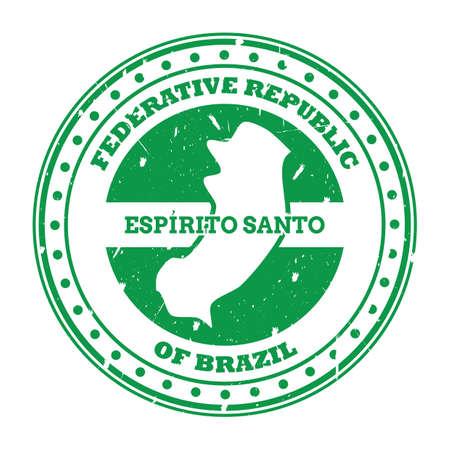 espirito santo map stamp Illustration