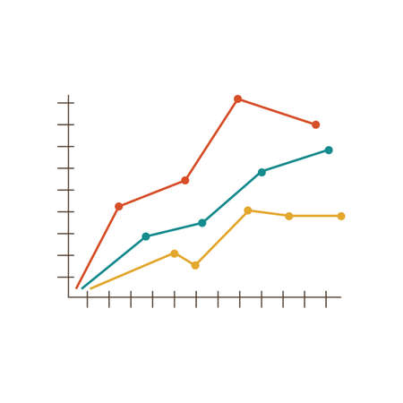 trend graph Illustration