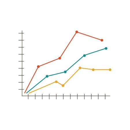 trend graph Ilustração