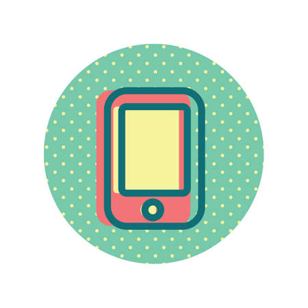 A mobile phone icon illustration.