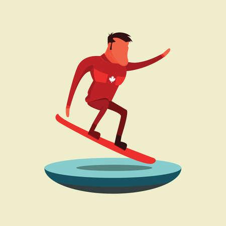 スノーボードの人