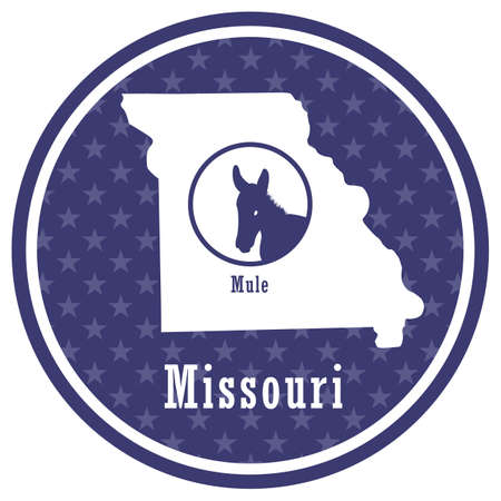 missouri state map with mule
