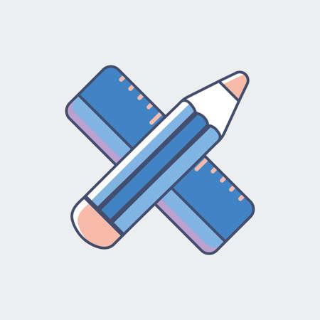 定規と鉛筆します。