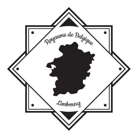 Etichetta della mappa di Limbourg Archivio Fotografico - 81534766