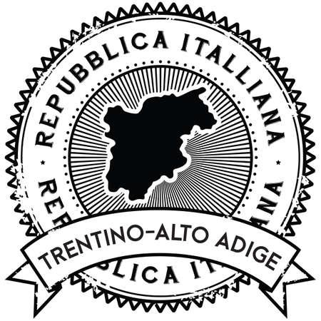 trentino-alto adige map label