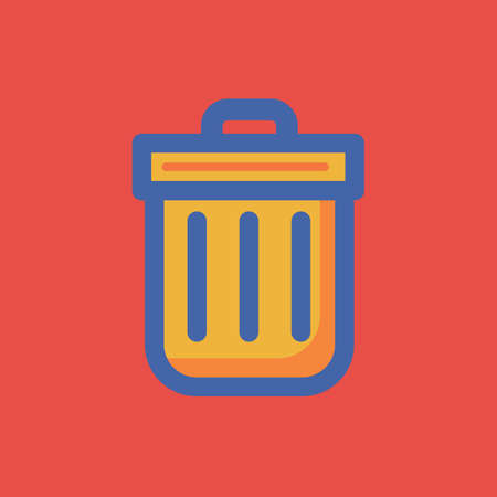 A recycle bin icon illustration. Çizim