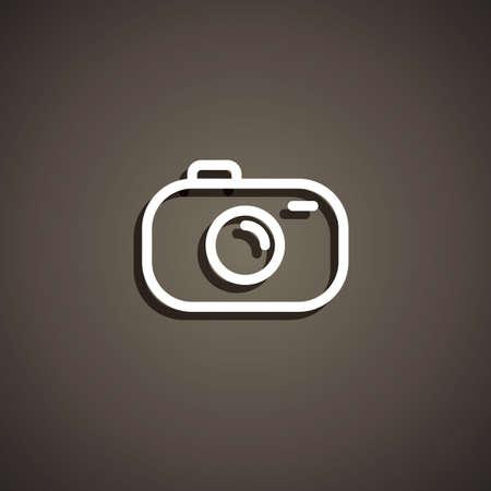カメラのアイコン  イラスト・ベクター素材