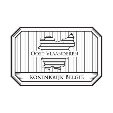 Mappa di Oost-vlaanderen Archivio Fotografico - 81534764
