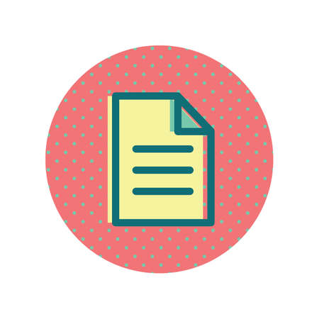 A document sheet icon illustration. Ilustrace