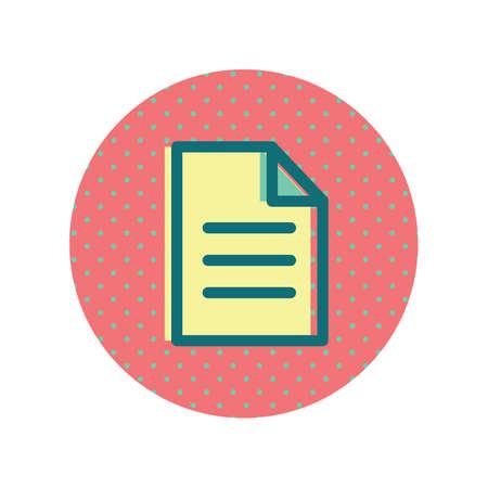 Illustrazione di un'icona di foglio di documento. Archivio Fotografico - 81533812