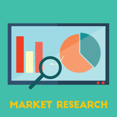 market research Ilustrace