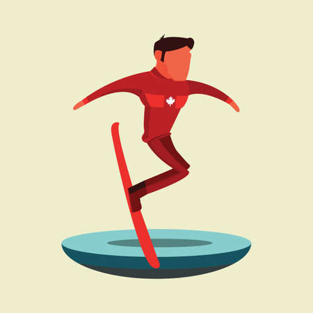 Man snowboarding Иллюстрация