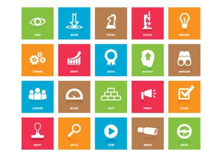 verzameling van de bedrijfsstrategie pictogrammen