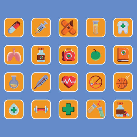 dosage: collection of health icons