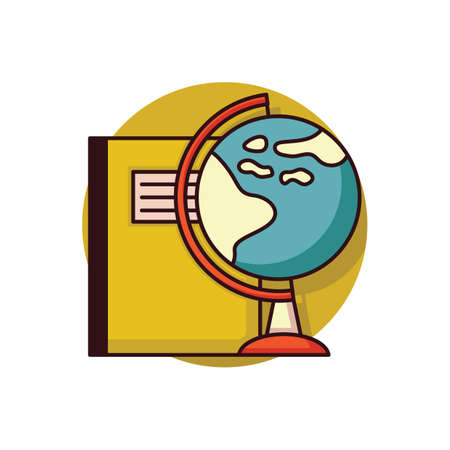 book with desk globe