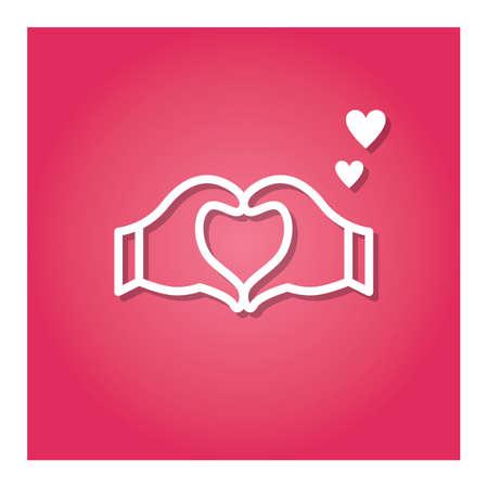 heart shape hands Ilustração