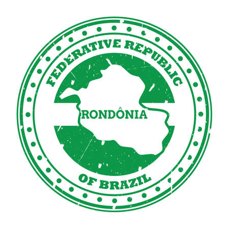 rondonia map stamp Çizim
