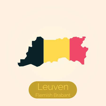 Flemish brabant map