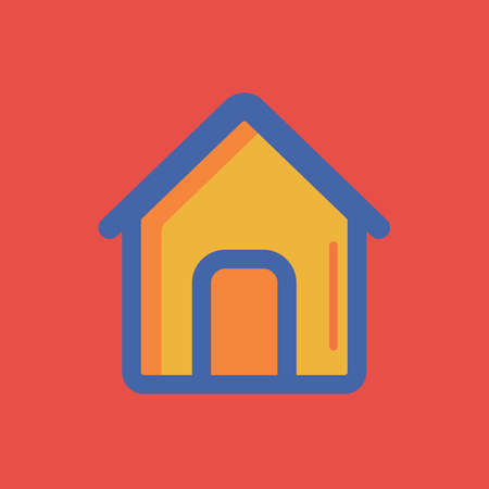 A home icon illustration.