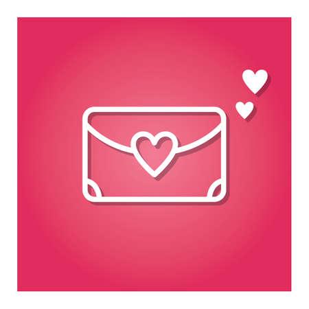 envelope with heart Ilustração