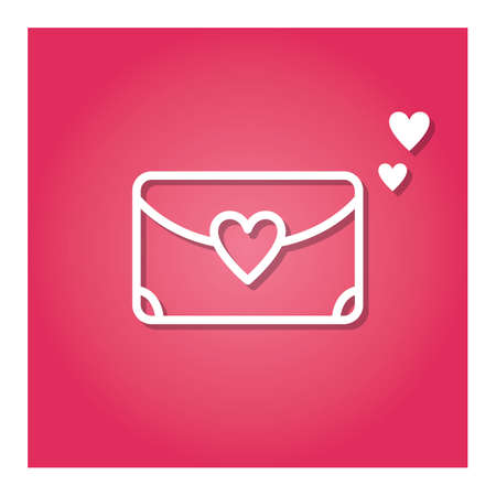 envelope with heart Ilustracja