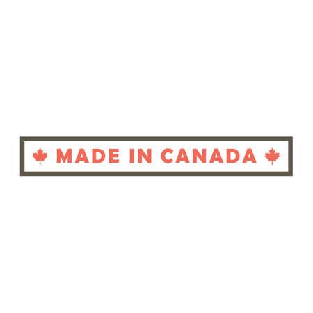 made in canada design Illustration