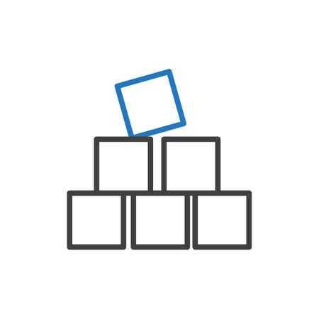 ビルディング ブロック  イラスト・ベクター素材