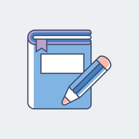 鉛筆が付いている本