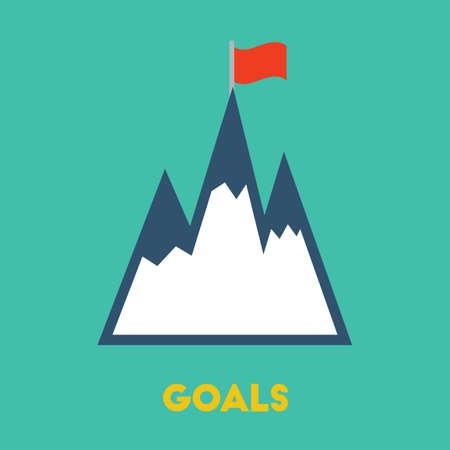 깃발을 든 산