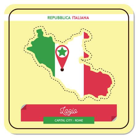 ラツィオ州地図